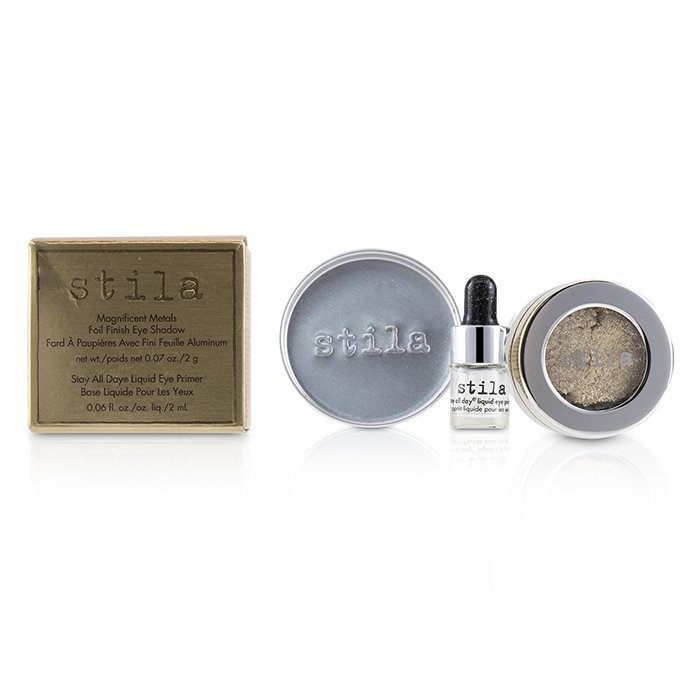 Stila 詩狄娜 金屬色高光眼影 Magnificent Metals Foil Finish Eye Shadow With Mini Stay All Day Liquid Eye Primer - # Metallic Pixie Dust 2pcs