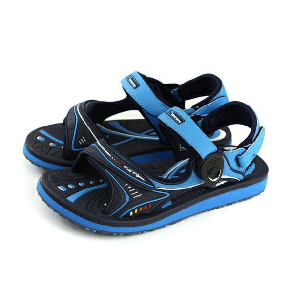 GP(Gold.Pigon)阿亮代言涼鞋防水雨天女鞋藍色G8666BW-20no950