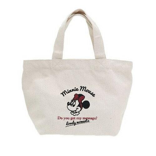 【日本進口正版】米妮 Minnie 迪士尼 帆布 手提袋 提袋 便當袋 Disney - 044771