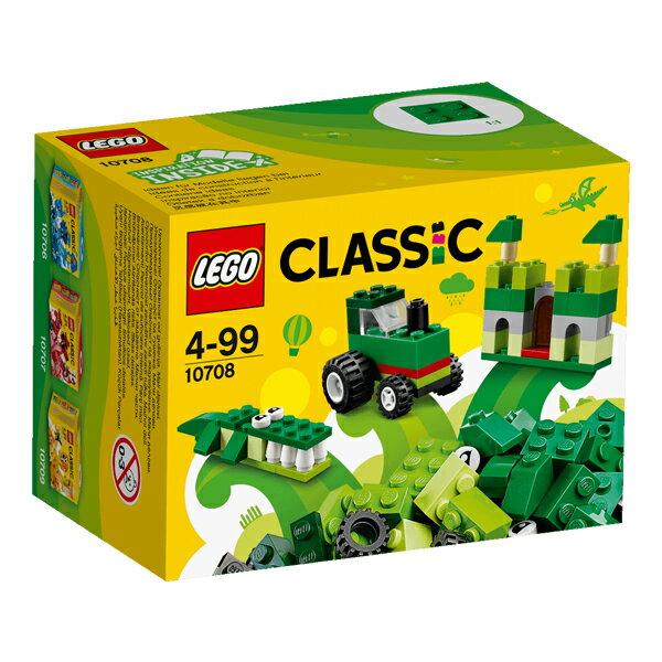 【LEGO 樂高積木】Classic 經典基本顆粒系列-綠色創意盒 LT-10708