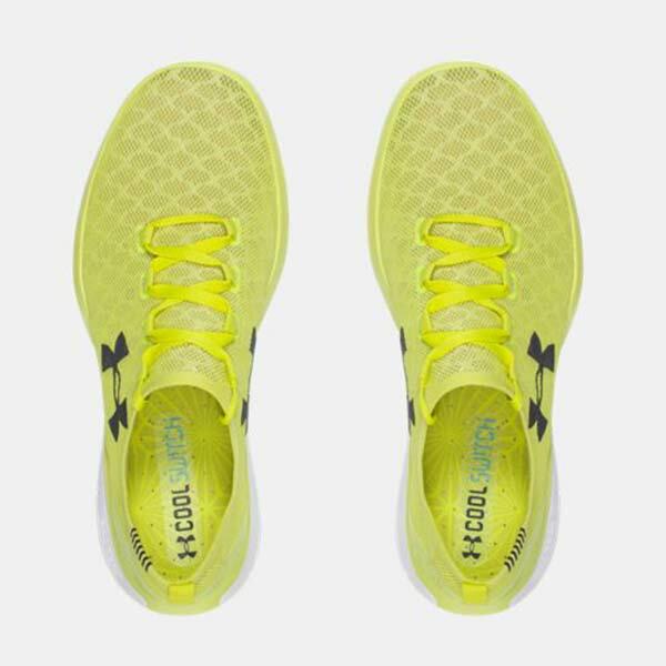 《下殺5折》Shoestw【1285666-772】UNDER ARMOUR Charged CoolSwitch 慢跑鞋 透氣網布 螢光黃 男生 2