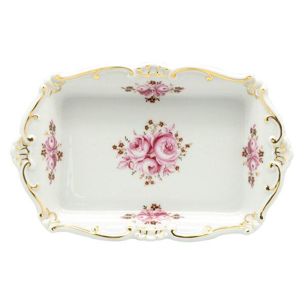 德國Weimar凱瑟琳娜玫瑰系列-18cm小方碟奶油碟