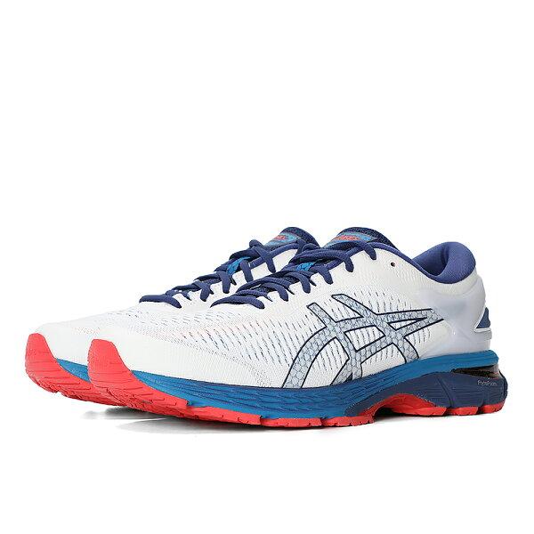 ASICS亞瑟士男慢跑鞋GEL-KAYANO25(白藍)緩衝支撐款1011A019-100【胖媛的店】