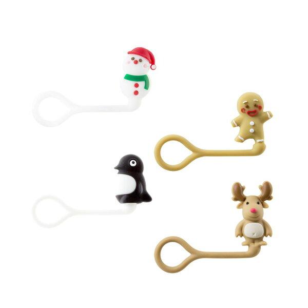 Bone|聖誕造型公仔Q束繩捲線器線材收納