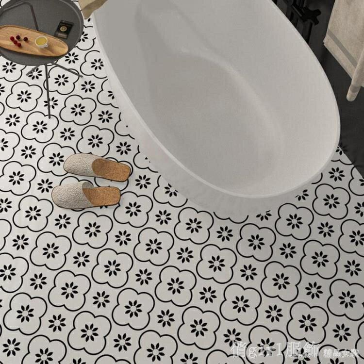 壁貼 衛生間防水地貼裝飾廚房防水瓷磚貼紙耐磨廁所地板貼自黏牆貼翻新