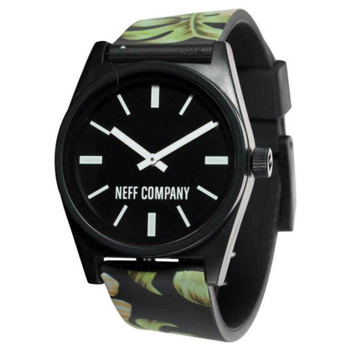 BEETLE NEFF DAILY WILD WATCH 扶桑花 黑綠 黑白 指針錶 手錶 圓錶 防潑水 - 限時優惠好康折扣