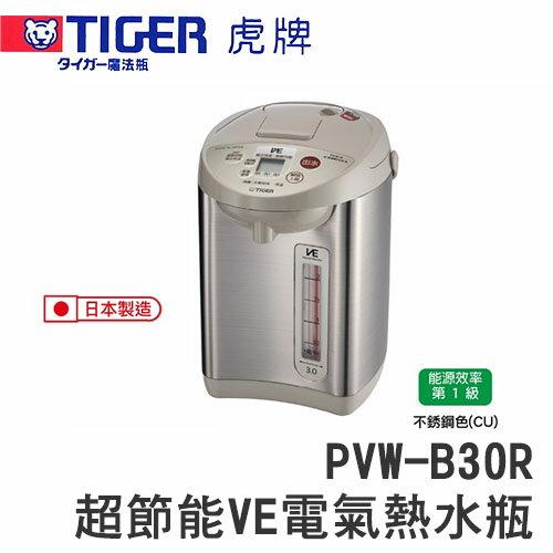 TIGER 虎牌 PVW~B30R 2.91L 雙模式出水節能省電熱水瓶~ 貨~