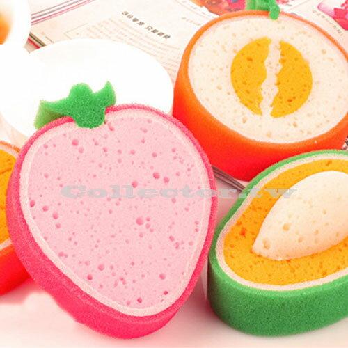 【F14090302】韓國誘人水果款加厚海綿百潔布 強力去污洗碗海棉 擦抹布