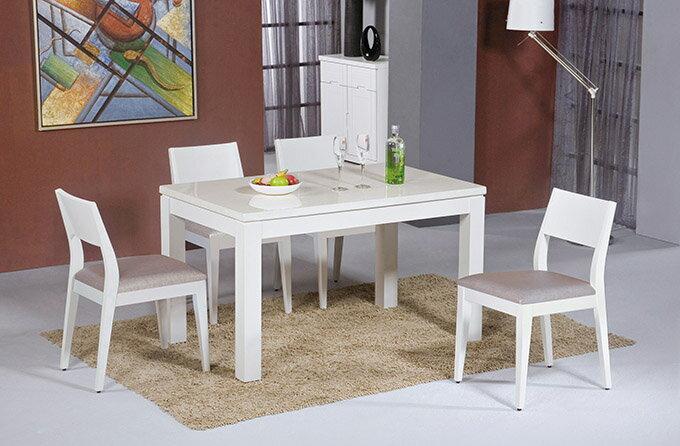 【尚品傢俱】HY-A431-03 喬伊白色石面餐桌