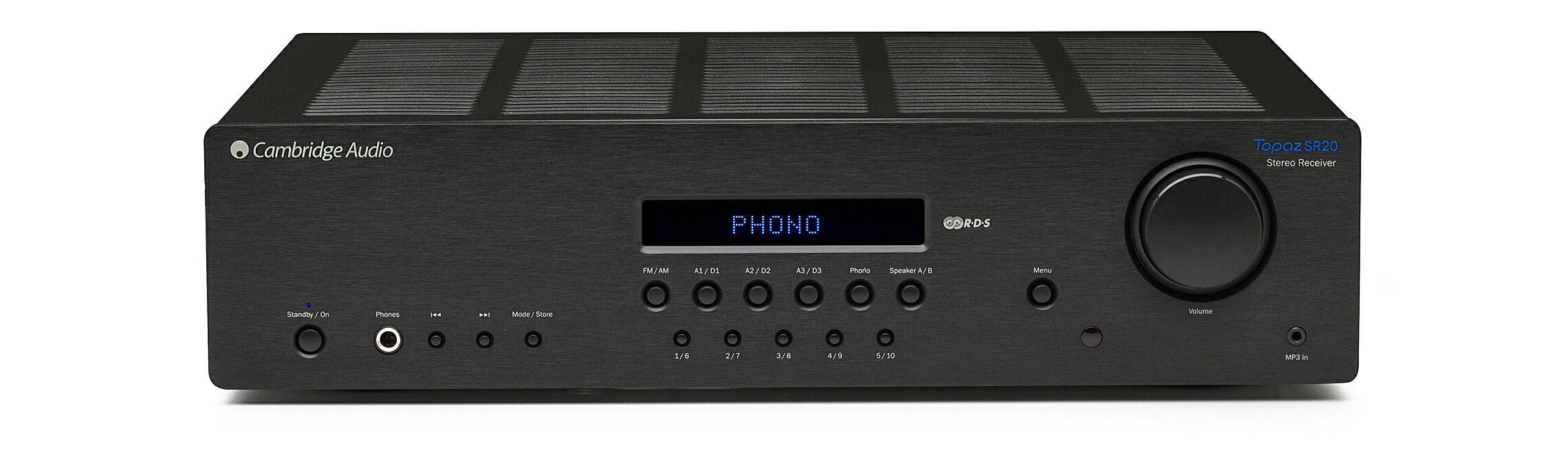 【Topaz SR-20 大功率數位立體聲收音擴大機】Cambridge Audio 英國劍橋音響 家庭劇院 CD BD AV 擴大機 無線數位串流 藍芽 網路收音機
