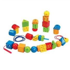 【淘氣寶寶】德國 Hape 愛傑卡 嬰幼兒啟發系列 創意串疊式積木 - 限時優惠好康折扣