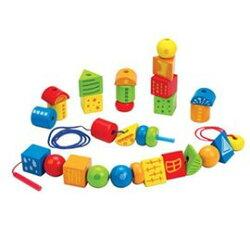 【淘氣寶寶】德國 Hape 愛傑卡 嬰幼兒啟發系列 創意串疊式積木