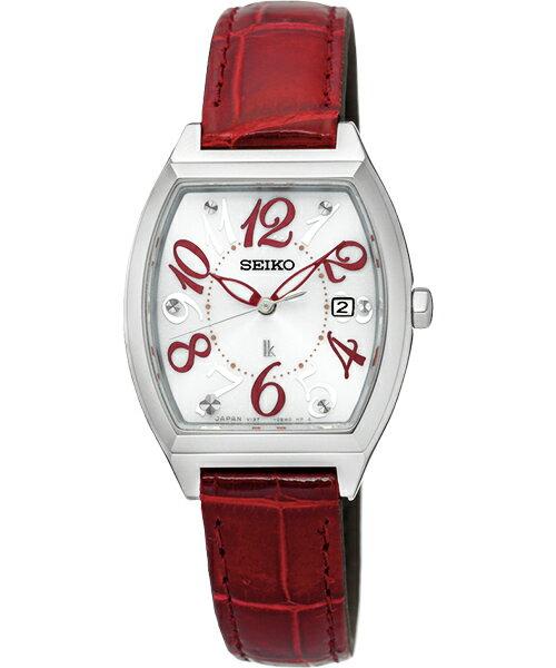 Seiko Lukia V137-0CE0R(SUT289J1)完美時刻太陽能酒桶腕錶/白面26*21mm