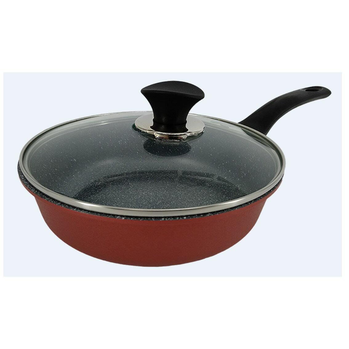 韓國Ecoramic鈦晶石頭抗菌不沾鍋 【 20cm萬用鍋用鍋蓋  (不含鍋子) 】