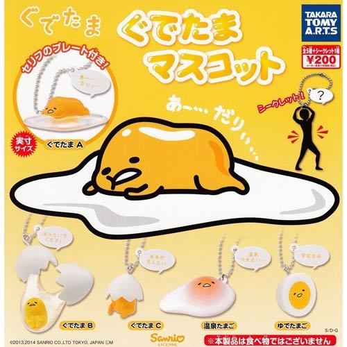 【奇買親子購物網】三麗鷗蛋黃哥扭蛋造型吊飾六款(隨機出貨)