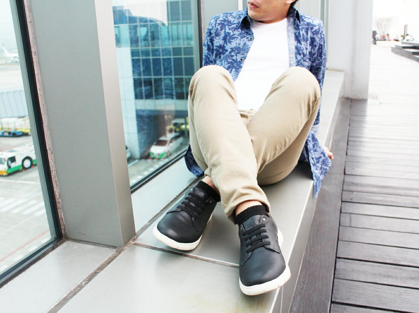 【KILDARE 8折│全店免運】KILDARE綁帶休閒鞋 黑 男 休閒慢跑 2
