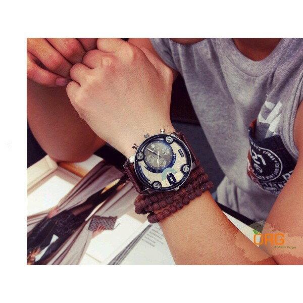 ORG《WC0003》盒裝~潮流質感 超大錶盤 石英錶 軍錶/手錶/女錶/男錶/中性錶 生日/交換/情人節 禮物 碼錶