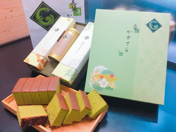 花須寺長崎蛋糕3入禮盒-巧克力+日本綠茶+抹茶