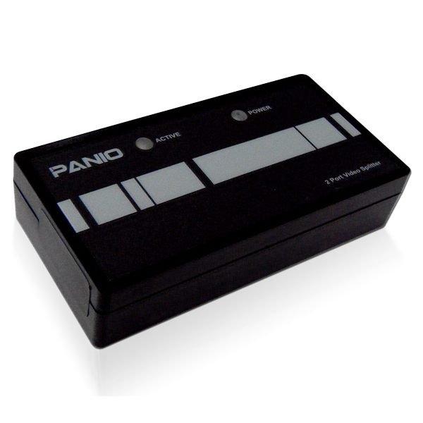 【新風尚潮流】PANIO 2埠 VGA 螢幕 喇叭 高頻影音分配器 支援音訊 串接擴充 VP162