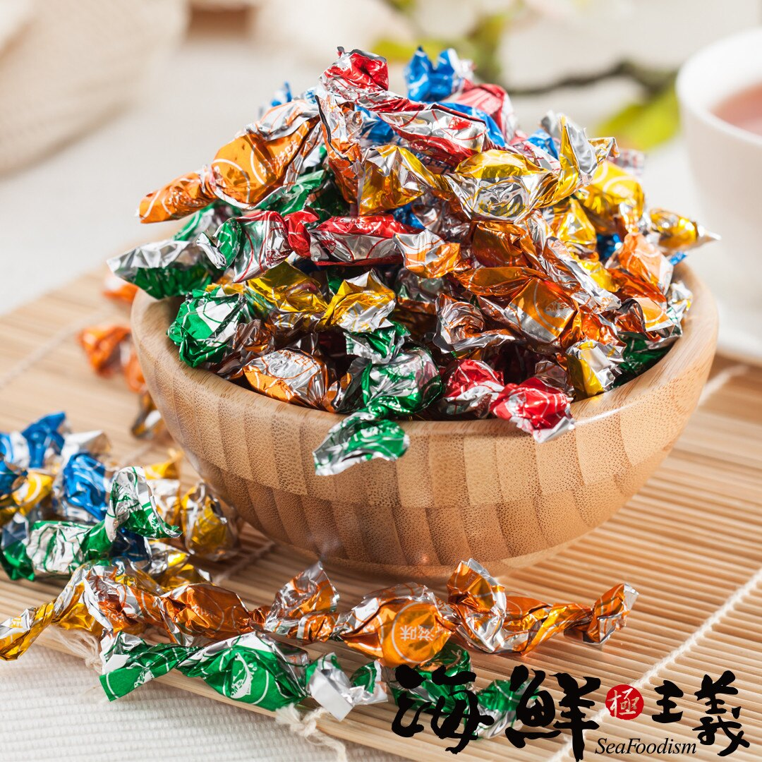 鮪魚糖 (140公克/包) ●採用新鮮鮪魚加工製成  ●每顆以彩色鋁薄紙獨立包裝 ●迎新、聚會、泡茶最佳佐茶點心 #海鮮主義