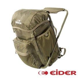 【法國EiDER】多功能休閒可坐式背包20L 綠色 戶外 旅遊 釣魚 後背包 EIT5607