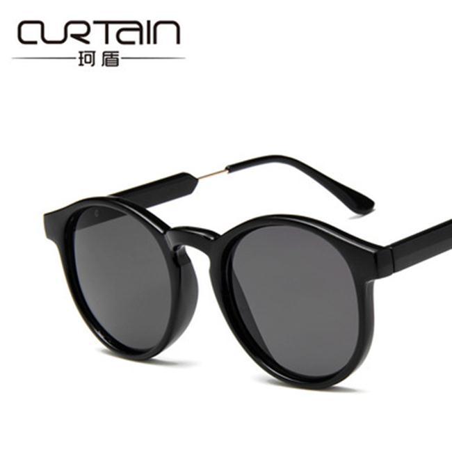 50%OFF SHOP【J022377GLS】2017新款潮牌vintage復古太陽眼鏡質感圓框透明墨鏡批發眼鏡