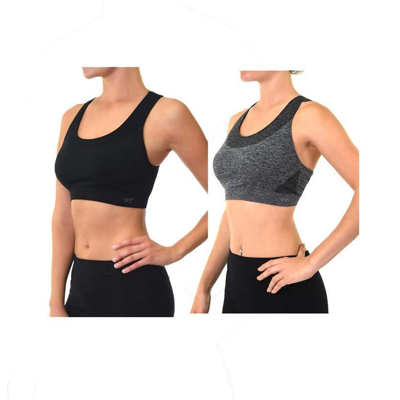 326a474351641 Alphabetdeal  2 Pack Unibasic Women Seamless Sports Bra