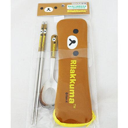 [敵富朗超市]拉拉熊-OPP袋潛水布不銹鋼餐具組加大系列 4