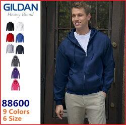 Gildan  88600 現貨9色 連帽刷毛外套 帽T 素面 內刷毛 寬鬆  外套 鋪棉