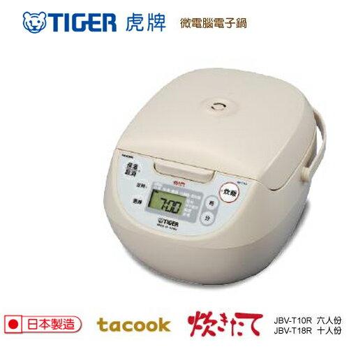 TIGER虎牌 6人份微電腦炊飯電子鍋 JBV-T10R