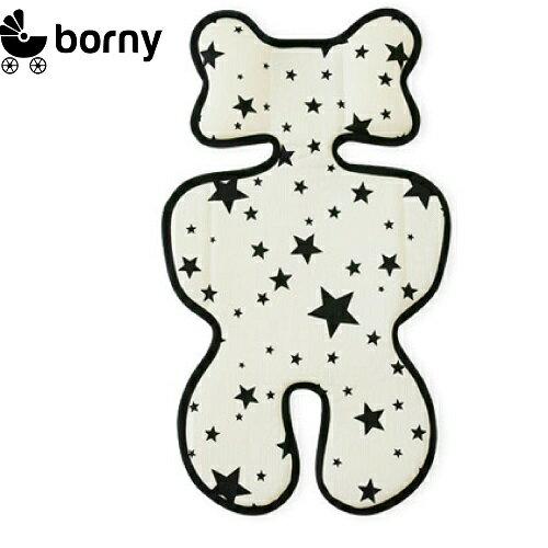 韓國【 Borny 】3D 立體推車涼墊(推車、汽座適用)  (白星星) - 限時優惠好康折扣