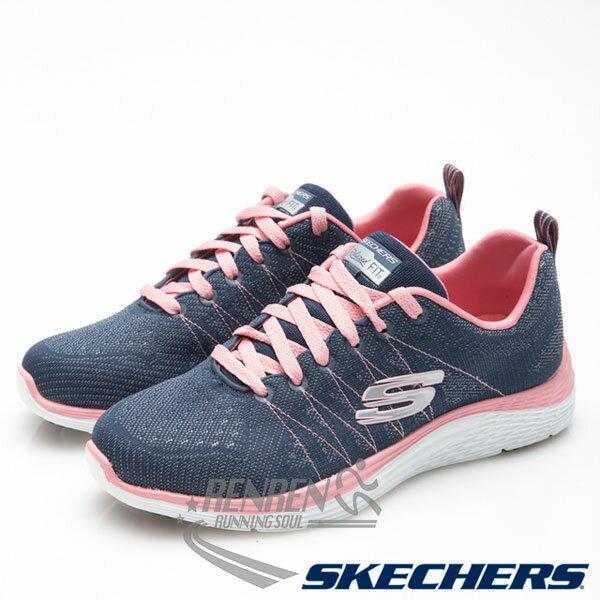 SKECHERS女運動鞋Valeris(藍*粉)懶人鞋運動鞋
