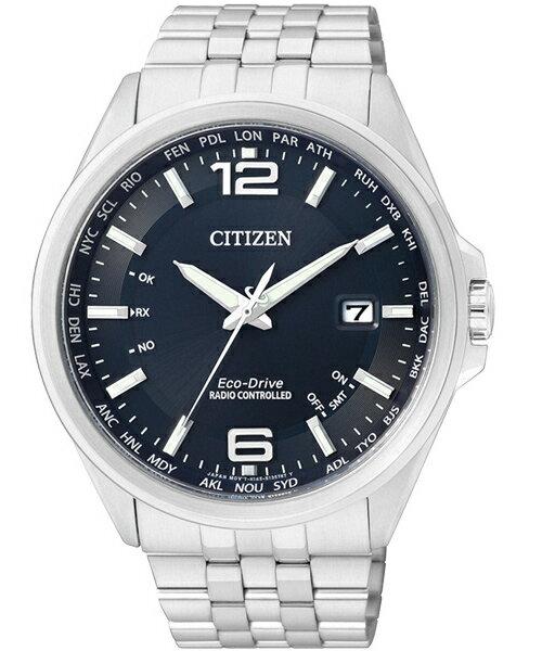 CITIZEN星辰CB0011-77L都會率性光動能電波腕錶/藍面43mm