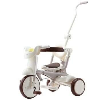 【淘氣寶寶】【日本iimo】【升級款】日本iimo#02兒童三輪車(折疊款-白色)【保證公司貨】