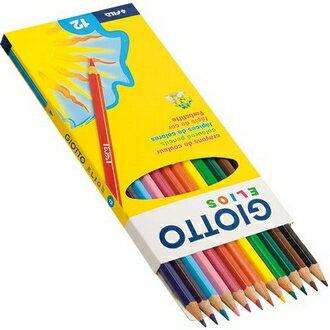 永昌文具用品有限公司 【義大利 GIOTTO】275000  Elios 學用六角彩色鉛筆 12色/ 盒