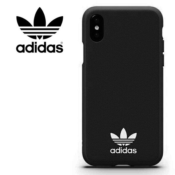 adidasOriginalsTPUMoulded5.8吋iPhoneXiX經典黑斜紋背蓋手機套保護套手機殼29191TIS購物館