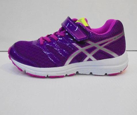零碼20.5cm ASICS 亞瑟士 兒童慢跑鞋 紫X紅 C569N-3693 [陽光樂活]