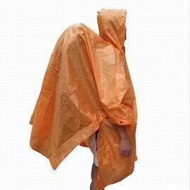 【四合一雨衣-210T滌綸-開145cm*210-收18*8cm-1套/組】多功能高防水背包聯體雨衣 地布 天幕 背包罩 垂釣 徒步 露營 登山 旅遊-76012