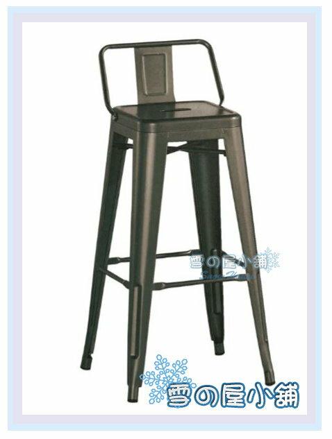 ╭☆雪之屋居家生活館☆╯R892-01 工業風方背吧椅(鐵製)(做舊色)/造型椅/工業椅/會客椅/北歐風情