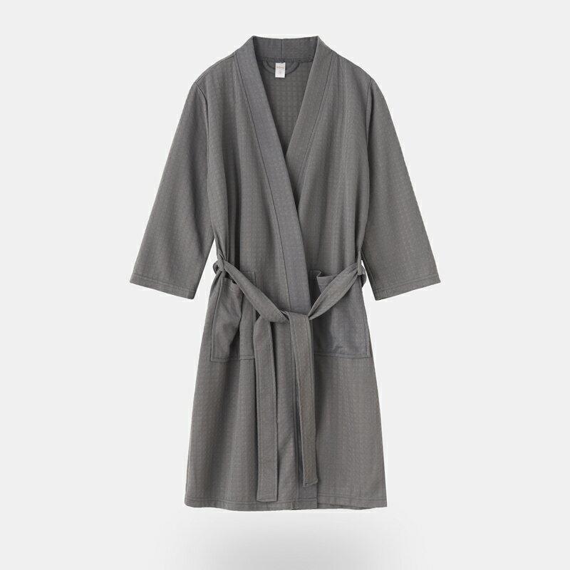 日式和服(男)酒店毛巾浴袍五星級男女士長款浴衣美容院睡袍日式和服吸水速干夏 bw3013