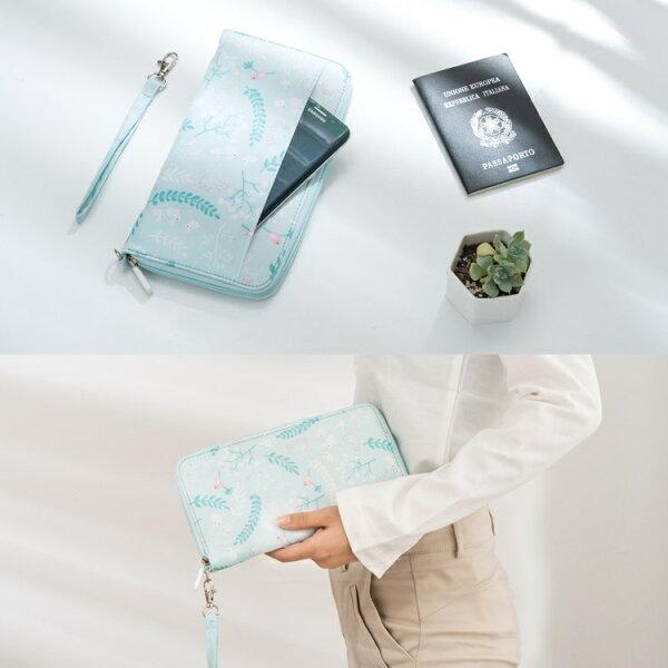 春之語系列護照包多功能防潑水收納包旅行手拿包護照夾【RB506】