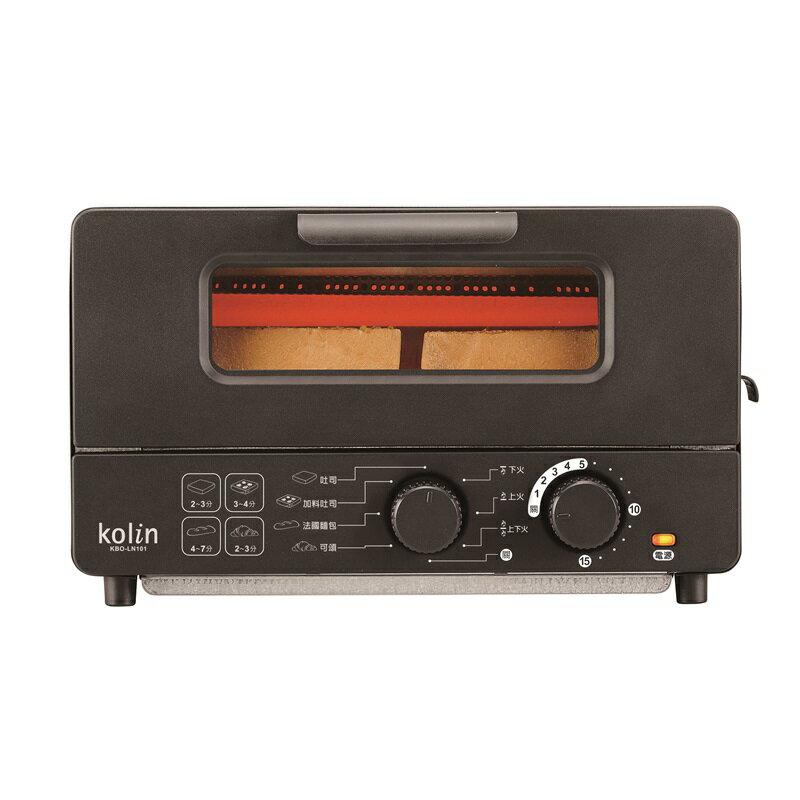 (福利品)【歌林】10公升蒸氣烤箱/烤吐司-黑KBO-LN101 保固免運