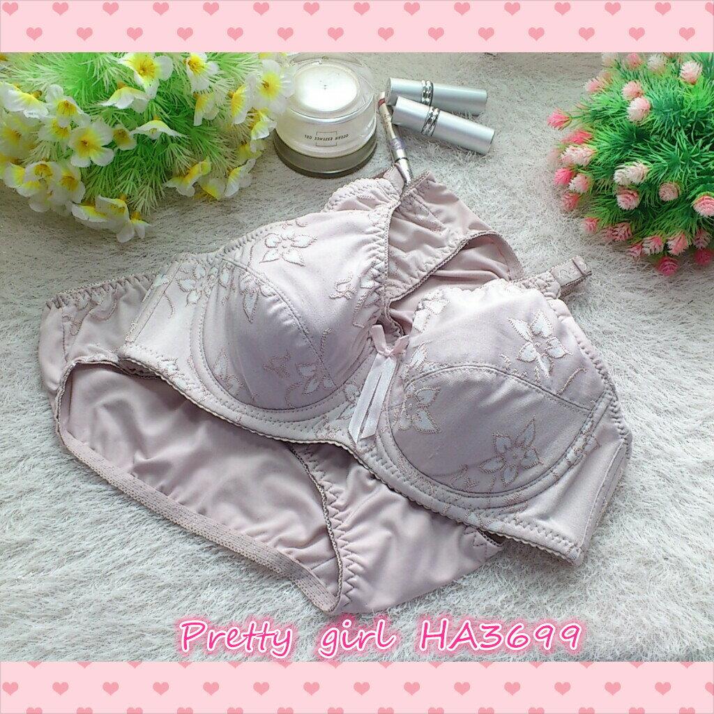 全罩杯薄襯調整型內衣75/80/85/90(ABC罩含內褲)俏麗一身HA3699