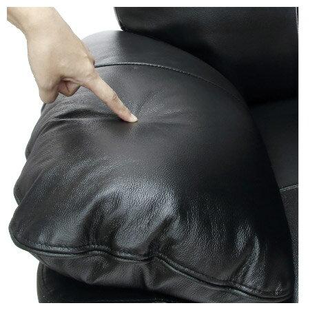 ◎(OUTLET)半皮3人用沙發 STONE BK 福利品 NITORI宜得利家居 4