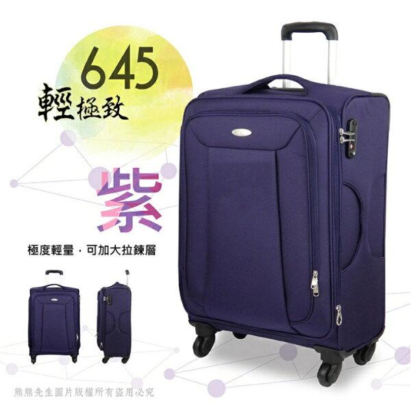 《熊熊先生》搶殺63折Samsonite新秀麗645登機箱行李箱旅行箱20吋超輕量布面TSA海關鎖