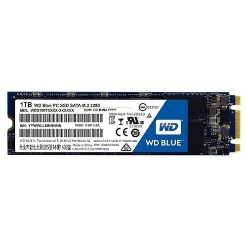 WD Blue SSD 1TB M.2 2280 1.0TB SATA III 6Gb/s 80mm Western Digital PC Internal SSD Solid State Drive 545MB/s Maximum Read Transfer Rate 525MB/s Maximum Write Transfer Rate WDS100T1B0B