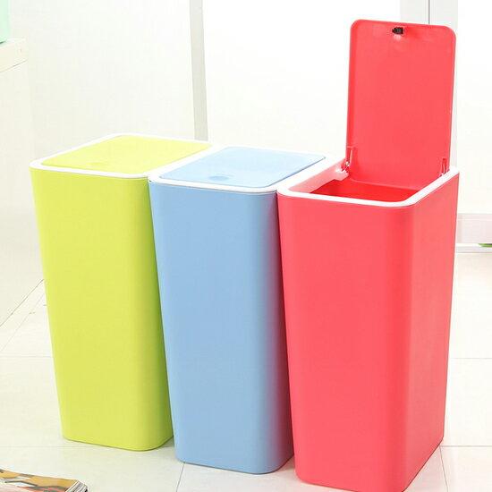 ♚MY COLOR♚按壓式彈蓋垃圾桶 廚房 浴室 客廳 衛生紙 分類 環保 時尚 落地 整潔 乾淨【A20】