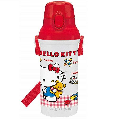 【百倉日本舖】日本製HelloKitty水壺兒童水壺直飲式水壺(格子)