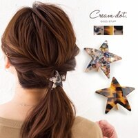 日本CREAM DOT/ 優雅石紋星星造型髮插 /a02892/ 日本必買代購/日本樂天直送。件件免運-日本樂天直送館-日本商品推薦