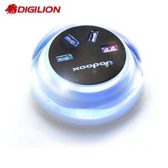 【新風尚潮流】DIGILION Xoopar Aqua Lite 4埠USB集線器 Aqua_Lite